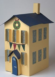 Winter Woodland Cartridge cut cute buildings great for holiday decorations.