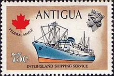 Antigua 1970 Ships and Captains Federal Maple Freighter Fine Mint SG 282 Scott 254 Other West Indies and British Commonwealth Stamps HERE!