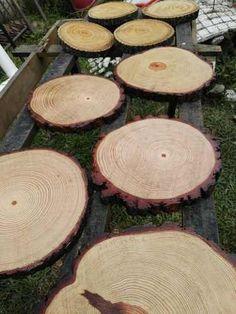 rodajas madera natura