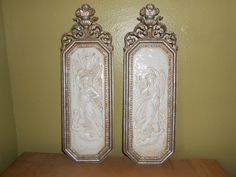 Wall Plaques Cherubs and Goddesses Dart Ind. 1967 by TrendyCharm, $21.99