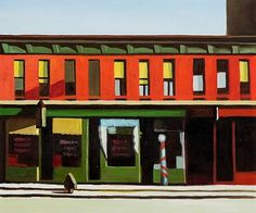 Edward Hopper | Early Sunday Morning. One of my favorite paintings.