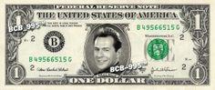 Bruce Willis on REAL Dollar Bill - $1 Celebrity Bill Custom Cash Money