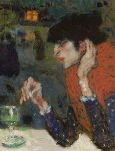 Pablo Picasso (1881-1973) Buveuse accoudée