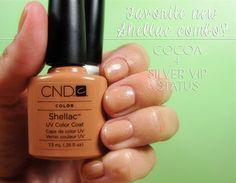 Favorite New Shellac Layering Combo - Shellac Cocoa and VIP Silver Status #nails #beauty