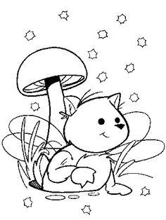 Cat with Mushroom