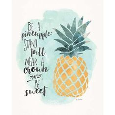 Pineapple Canvas Art - Jo Moulton (24 x 30)