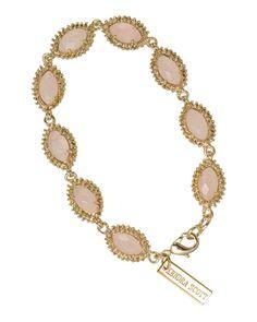Kendra Scott 'Jana' bracelet in Rose Quartz -  perfect for laying bracelets and a watch! #KendraScott