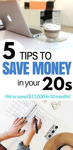 5 Tips to Save Money in Your 20s! We've saved over $11,000 in 10 months on one paycheck. How to Save Money in your 20s | Saving Money | Money Saving | Budgeting Couple Blog | BudgetingCouple.com #savemoneytips #savemoneyinyour20s #budgetingcouple