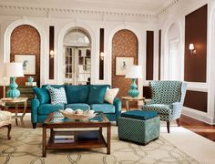 The Talbot sofa commands attention as the room's centerpiece.