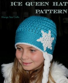 Ice Queen crochet hat   Since movie Frozen and queen Elsa are very popular in my house, my neighbourhood and my country, h...