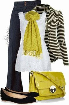 A fashion look from April 2013 featuring Vero Moda tops, CO blazers e McQ by Alexander McQueen flats. Browse and shop related looks. Dressy Outfits, Mode Outfits, Fall Outfits, Fashion Outfits, Womens Fashion, Nail Fashion, Fashion Boots, Mode Chic, Mode Style