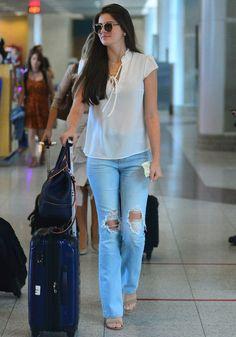 Fashion 2019 New Moda Style - fashion Airport Look, Airport Style, Look Fashion, Womens Fashion, Outfit Look, Vegan Clothing, Looks Plus Size, Brazilian Girls, Camila