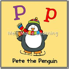 letter P is for Penguin. Free Preschool/Pre-K printable pack.