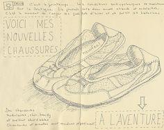 """SKETCHBOOK """"Mes nouvelles chussures"""" © by Framboisine Berry, via Flickr"""