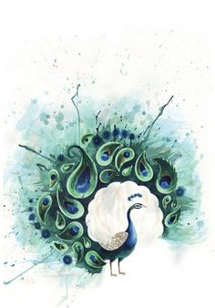 """Circle Peacock""  by Tracey Cameron on society6.com"