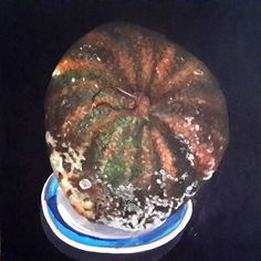 """Molding Watermelon, Oil paint on canvas, 24"""" X 24"""" by Mark Granlund"""