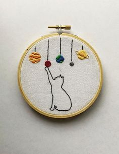 Funny Embroidery, Hand Embroidery Stitches, Embroidery Hoop Art, Cross Stitch Embroidery, Beginning Embroidery, Vintage Embroidery, Simple Embroidery Designs, Embroidery Ideas, Simple Pattern