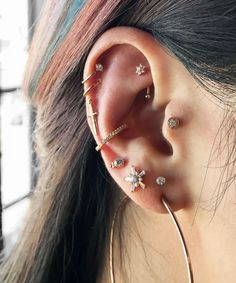 Image result for double cartilage piercing