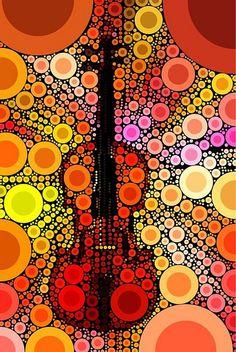 {Orange Violin Art by FiddleFlix, via Flickr} Lashof Violins