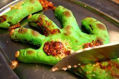 Green pizza handz