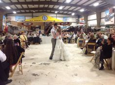 Both Bride & Groom are pilots, so unique to have their reception in an air museum!