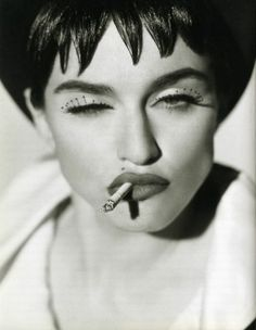 Madonna by Herb Ritts look at the eyelashes! lush!