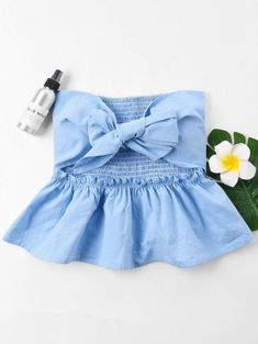 Cut Out Bowknot Tube Top