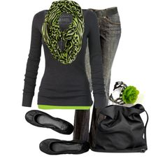 Green!, created by lagu on Polyvore