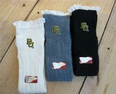 Baylor Boot Socks - $32, free shipping/TCU boot socks available in off white, charcoal, and gray