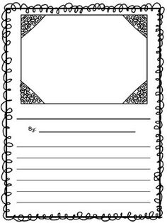 A cute writing paper to help your students publish their work! Writing Worksheets, Writing Lessons, Writing Resources, Writing Skills, Writing Activities, Children Activities, Writing Ideas, Cute Writing, Work On Writing