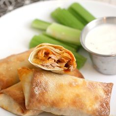 Buffalo chicken rolls, perfect for parties and holidays      http://traceysculinaryadventures.blogspot.com/search?updated-max=2012-01-13T01:30:00-05:00&max-results=7