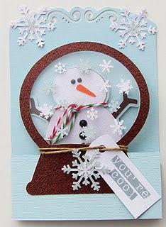 """You're Cool"" Snowman Globe Christmas Card...Sharon Langford Designs."
