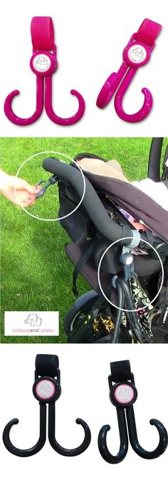Looking for a different type of baby shower gift that will be a life saver for the new mom. Our baby stroller hooks can carry up to 20lbs on each hook allowing moms to be hands free when pushing their stroller. Easy to attach with velcro straps and the type of baby gift that can still be used even when the babies grow up and be used to hang their jackets. Check out our full line up of baby stuff at LollipopandLullaby.com