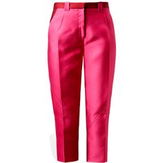 OSTWALD HELGASON Colour-blocked Silk-blend Cropped Trousers ($595) ❤ liked on Polyvore