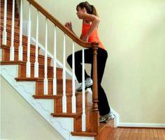 Exercícios na escada de casa