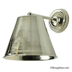 Map Room Large Single Wall Light Polished Nickel