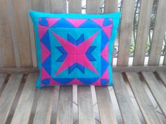 Patchwork Star and Heart Embroidered Throw by PeriferiBodrum, $45.00