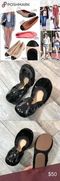 YOSI SAMRA Black Patent Leather Flat Style & comfort all in one! Soft leather upper, extra cushioned outsold for more comfort & less wear on the sole & padded footbed with extra memory foam! No dust bag, Never worn.    SELLERS NOTE:  •All items are inspected and described thoroughly and honestly •Items are sold as is (as described)  •Each order is packaged with CARE & SHIPPED SAME/NEXT BUSINESS DAY, unless seller communicates otherwise •Buy with comfort from a top seller, fast shipper…