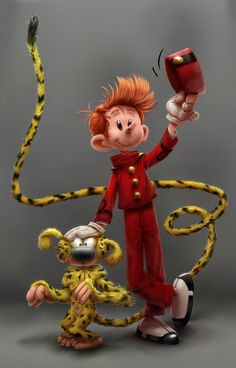 Spirou & Marsupilami by Franquin by Alex Blain | Cartoon | 2D | CGSociety