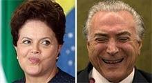 Dilma diz 'esperar integral confiança' de Michel Temer