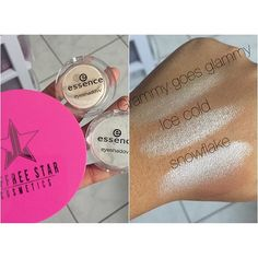 """WEBSTA @ csidbeauty13 - I was so excited to show you this post guys!  So this is a comparison and """"#dupe"""" for @jeffreestarcosmetics ice cold! I compared it with these @essence_cosmetics EYESHADOWS and as you can see, they are very similar! The first shade is essences Grammy goes glammy which is more on the gold side and a little less shimmery. However still very close to jeffree's #icecold! Lastly is Essences eyeshadow in snowflake which is CLEARLY more intense than ice cold! It is tru..."""
