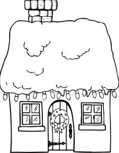 Snow covered house http://pegitboard.com/franklin/Coloring-Pages