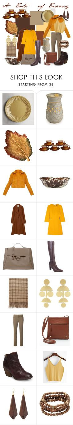 """Tuscan Palette"" by lora-86 on Polyvore featuring Pier 1 Imports, Candle Warmers Etc., Mulberry, Dolce&Gabbana, Myriam Schaefer, Carshoe, Annie Costello Brown, Twin-Set, Söfft and Kenneth Jay Lane"