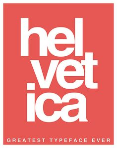 I love this font. #Helvetica