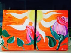 Roses bending toward the sun