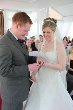 Putting on the wedding ring