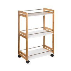 Estantería Multiusos Con Ruedas 51X80Cm | casa viva Relax, Kitchen Cart, Bookcase, Shelves, Table, Furniture, Home Decor, Diy, New Houses