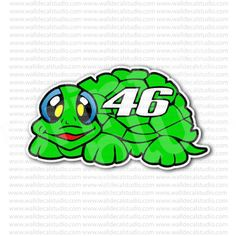 Valentino Rossi Motorcycle Racer Turtle 46 Sticker for - Stickers Motorcycle Motorcycle Stickers, Motorcycle Racers, Valentino Rossi, Online Work, Vr, Turtles, Cards, Stuff To Buy, Turtle
