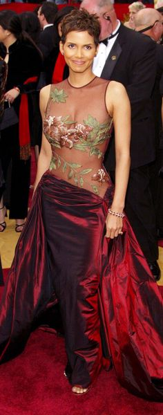Halle Berry in Elie Saab, 2002, photo by Rex Features