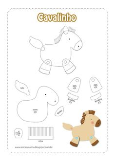 Игрушки из фетра. Выкройки фото #3